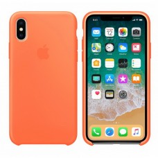Силиконовый чехол Apple Silicone Case Orange для iPhone XS Max
