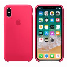 Силиконовый чехол Apple Silicone Case Rose Red для iPhone X /10/Xs