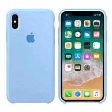Силиконовый чехол Apple Silicone Case Sky Blue для iPhone Xs Max