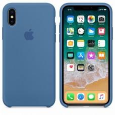 Силиконовый чехол Apple Silicone Case для iPhone  XS Max Denim Blue
