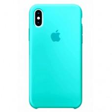 Силиконовый чехол Apple Silicone Case Sea Blue для iPhone XS Max