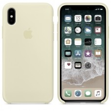 Силиконовый чехол Apple Silicone Case Antique White для iPhone XS Max
