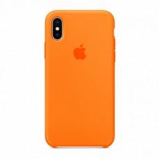 Силиконовый чехол Apple Silicone Case Spicy Orange для iPhone X / Xs