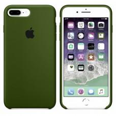 Силиконовый чехол Apple Silicone Case Virid Темно-зеленый для iPhone 7 Plus / 8 Plus