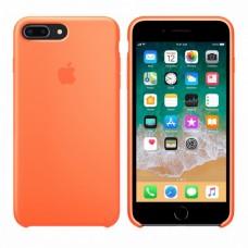 Силиконовый чехол Apple Silicone Case Orange для iPhone 7 Plus / 8 Plus