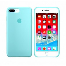 Силиконовый чехол Apple Silicone Case для iPhone 7 plus/8 plus голубой