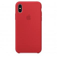 Силиконовый чехол Apple Silicone Case RED  для iPhone X
