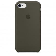 "Силиконовый чехол ""Apple Silicone"" Dark Olive Original iPhone 8/7"